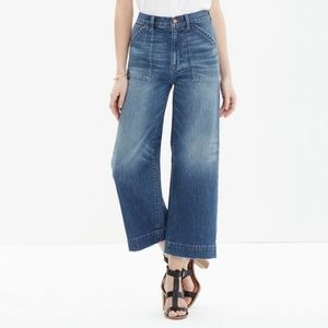 Madewell Jeans - Madewell Wide Leg Crop Jeans Penny Wash Size 26